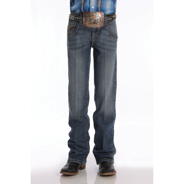 Cinch Boys Relaxed Fit Jeans - Medium Stonewash
