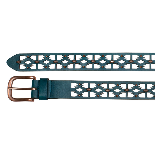 Catchfly Ladies Belt Turquoise Laser
