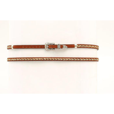 Hat Band Leather with Braided Horse Hair