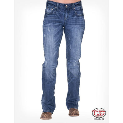Cowgirl Tuff High Feather Jeans