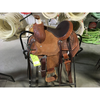 "Irvine 10.5"" Kids Rope Saddle"