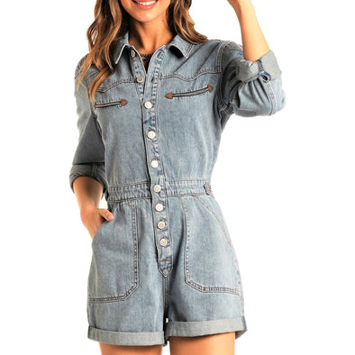 Rock & Roll Junior Denim Romper