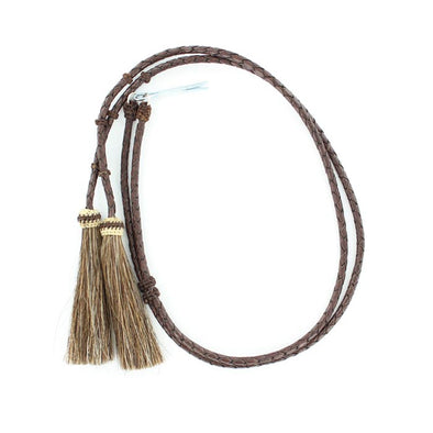 Stampede String Braided Leather and Horse Hair, Brown