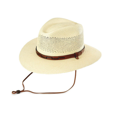 Stetson Panama Straw Hat - Airway, Natural