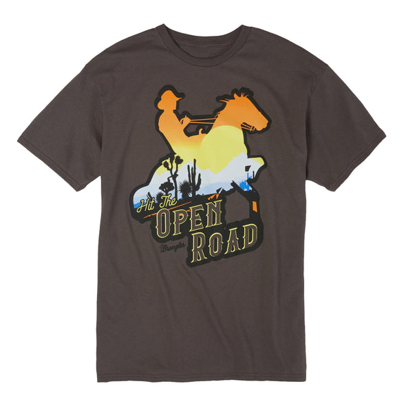 Wrangler Western T-Shirt w/Logo Hit the Open Road