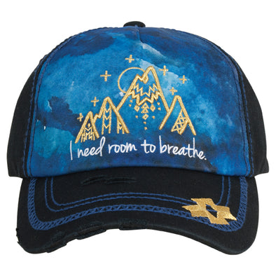 Catchfly Cap Black w/Gold Mountains