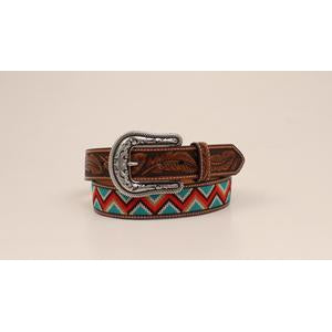 "Ariat Ladies Belt 1.5"" Multicolor Chevron Embroidery"