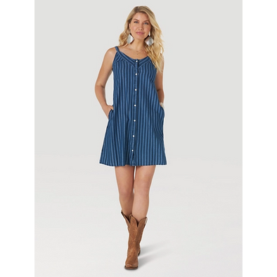 Wrangler Retro Americana Tank Dress Indigo