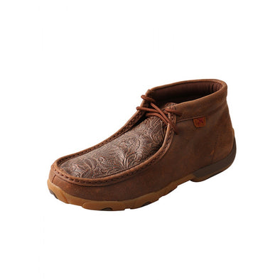 Twisted X Women's Driving Moccasin - Brown/Brown Print