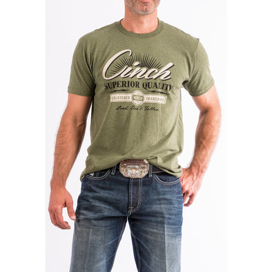 Cinch Men's Olive Cotton-Poly Tee Shirt