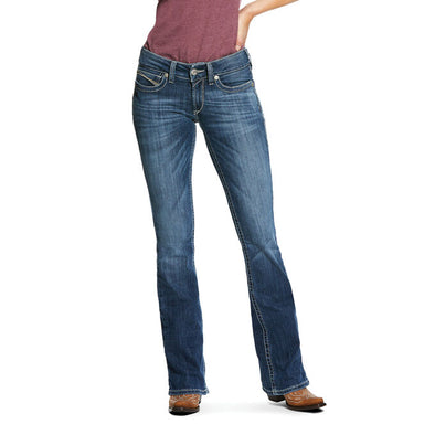 Ariat Women's R.E.A.L. Mid Rise Stretch Carlie Boot Cut Jean