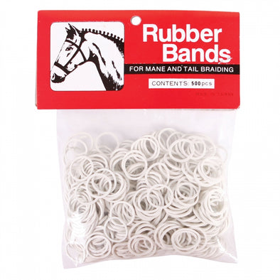 Braiding Bands White 500's - Irvines Saddles