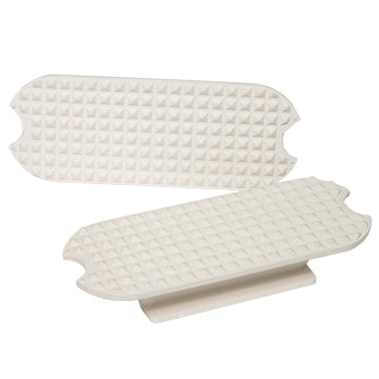 "4 3/4"" White Rubber Stirrup Pads"