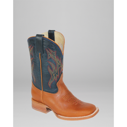 Hondo Youth Honey Apache/Navy Cowboy Boot