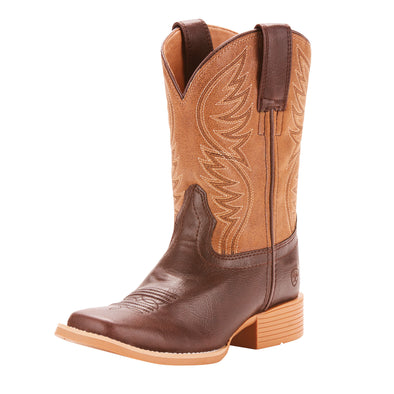 Ariat Youth Brumby Western Boot - Fudgesickle/Tumblin Tan