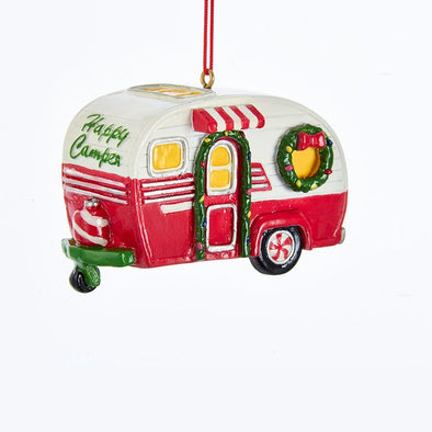 "3"" Happy Camper RV Ornament"