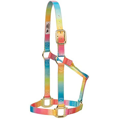 Weaver Non Adj Halter Rainbow Average