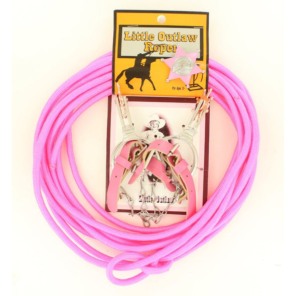 Little Outlaw Rope/Spur/Badge PK