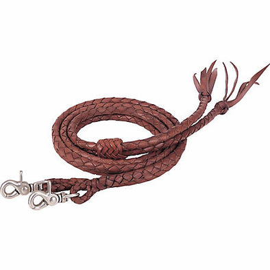 "Weaver Round Braided Latigo Split Reins, 1/2"" x 7'"