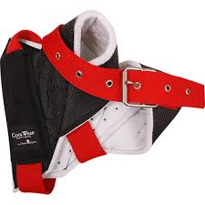 Horn Wrap black w/ red strap