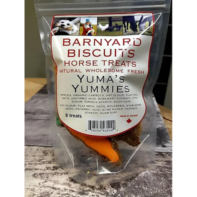 Barnyard Biscuits Yuma's Yummies alfalfa and carrot 30 treats