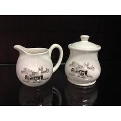 Bernie Brown Cream & Sugar Bowl Set
