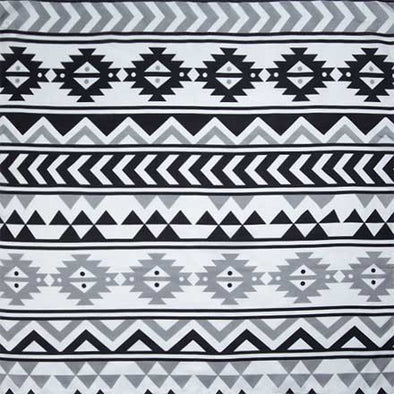Wyoming Traders #7 Black White Southwest Silk Scarf