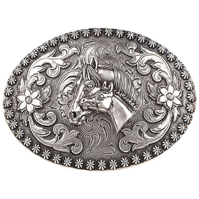 Blazin Roxx Ladies Buckle Oval -  Mare and Foal