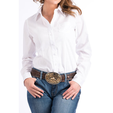Cinch Women's Classic Fit Cotton Shirt - White