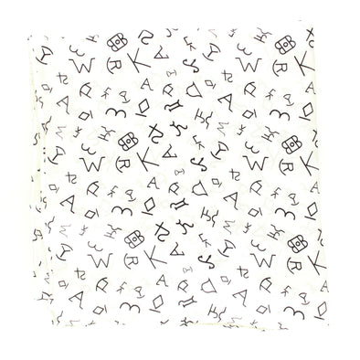 Wild Rag Branded Patterned 33x33 White