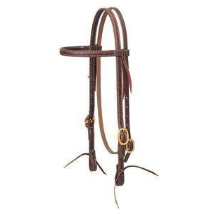 Weaver Working Tack Browband Headstall with Solid Brass, 5/8""