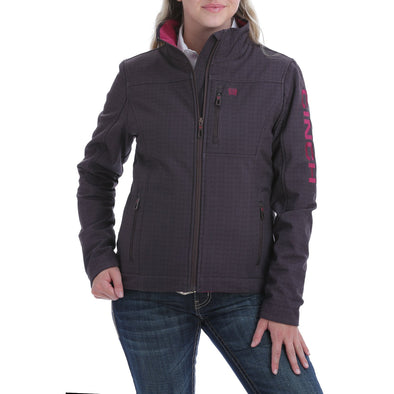 Cinch Womens CC Print Bond Jacket  Brown