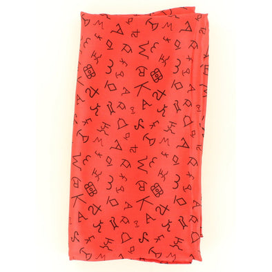 Wild Rag Large Branded Patterned 42x42 Red