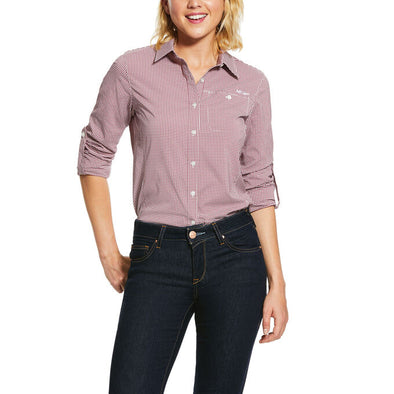 Ariat Women's VentTEK II LS Shirt Zinfandel Check