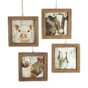 "4.5"" WND Farm Animal Frame Ornament"