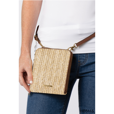 Paradise Raffia Mini Convenience Crossbody