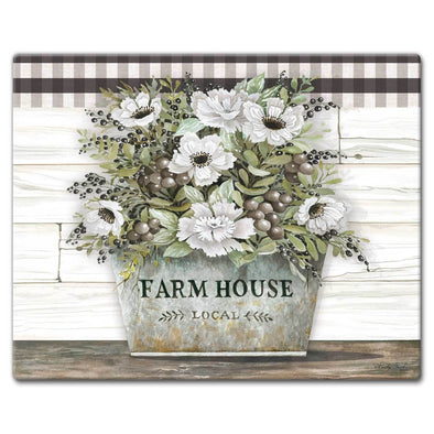 Cutting Board Glass Large - Vintage Farmhouse