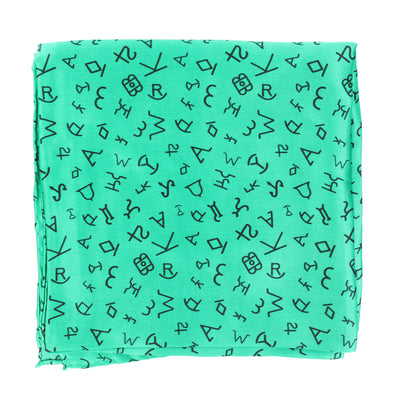 Wild Rag Branded Patterned 33x33 Forest Green