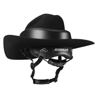 Resistol Ride Safe Felt Cowboy Hat - Black