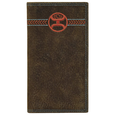Hooey Signature Rodeo Wallet  Weathered Brown