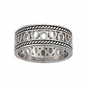 Montana Silversmiths Horseshoe Rope Ring
