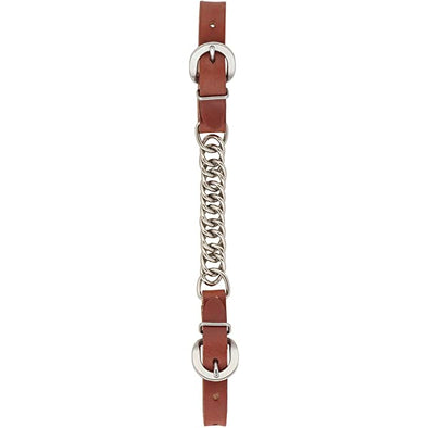 Weaver Leather Canyon Rose Single Flat Link Nickel Plated Chain Curb Strap