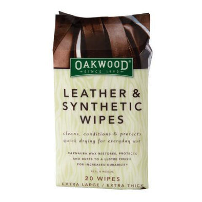 Oak Wood Leather and Synthetic Wipes