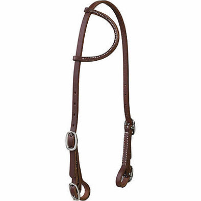 Weaver Working Cowboy Sliding Ear Headstall with Buckle Bit Ends, 5/8""