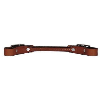 Weaver Leather Bridle Leather Rounded Curb Strap - Rich Brown