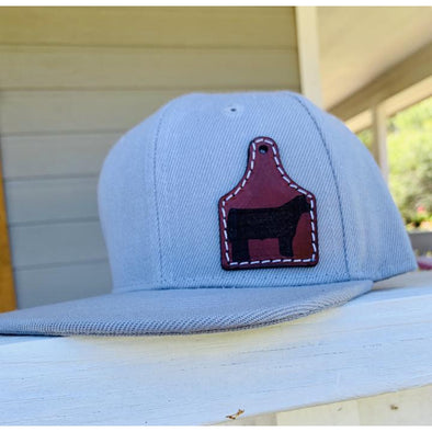 The Whole Herd - Printed Leather Ear Tag Cap