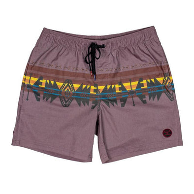 Hooey Shorts Maroon Volley Board Shorts w/Multi Color Pattern