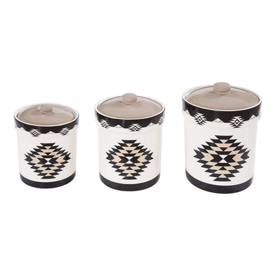 3 PC Chalet Canister Set