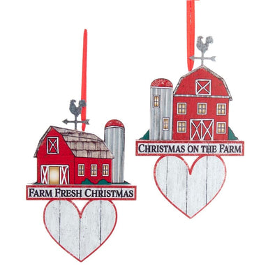 "5.5"" WDN Red Barn w/Heart"