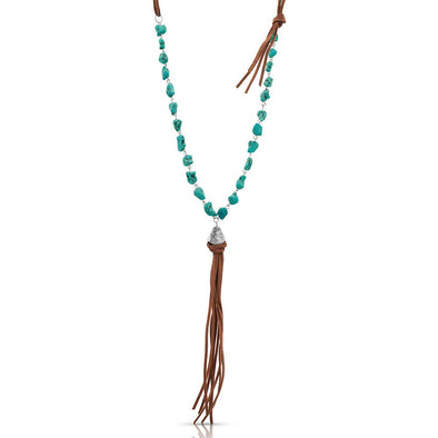 Montana Silversmith Relaxed Bead & Leather Necklace